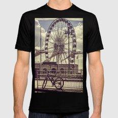 The Brighton Wheel Black Mens Fitted Tee MEDIUM
