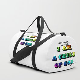 I am a Child of God-Rainbow Graphic Design Duffle Bag