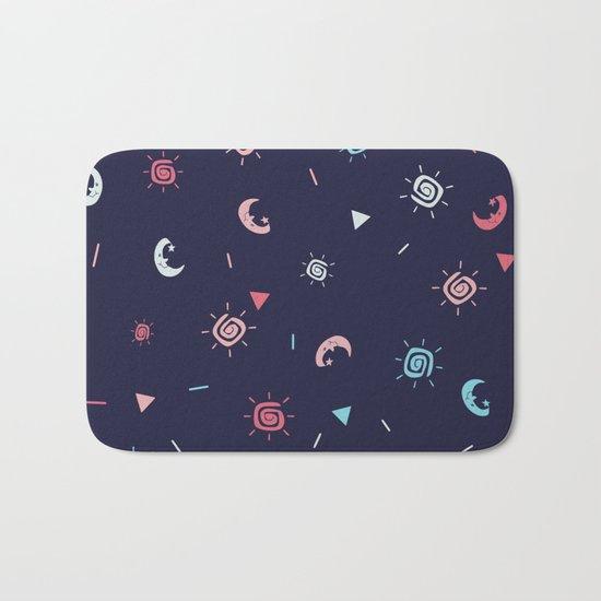 Seamless sun and moon pattern ver 2 Bath Mat