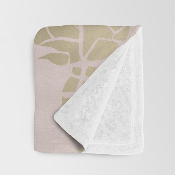 Tropical Pineapple, Pastel, Blush Pink and Gold, Abstract Pattern Throw Blanket