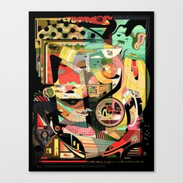Pigtails Banana Chaos Canvas Print