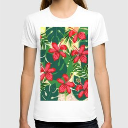 floral pink flowers T-shirt