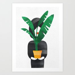 I'm Just a Girl Holding a Plant Art Print