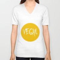 vegan V-neck T-shirts featuring Vegan. by Love Libby X