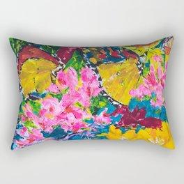 Butterflies on Flowers Rectangular Pillow
