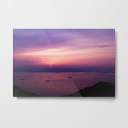 Mount Hakodate Sunset Metal Print