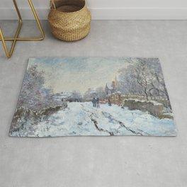 Snow Scene at Argenteuil - Claude Monet Rug