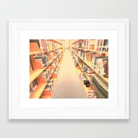 library Framed Art Prints featuring Library by AmeeVee