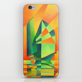 Chinese Junk Sails at Sunrise iPhone Skin