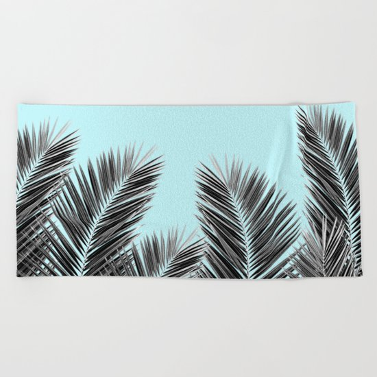 Clear Palm Skies Beach Towel