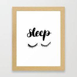 Sleep with Eyelashes Framed Art Print