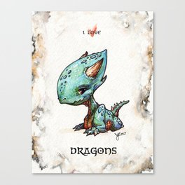 """I love dragons"" Canvas Print"