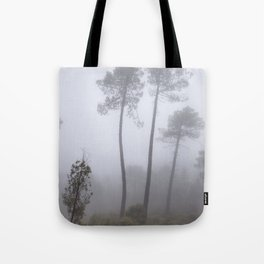 """""""Wonderful trees"""". Into the foggy woods Tote Bag"""