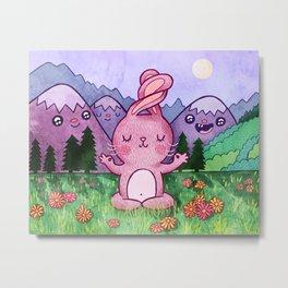 Bunny Yoga Metal Print