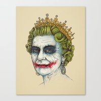 god Canvas Prints featuring God Save the Villain! by Enkel Dika