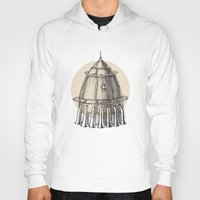 steam punk Hoodies featuring Steam punk rocket by grop