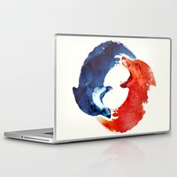 ying yang Laptop & iPad Skins featuring Ying yang by Robert Farkas