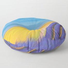 LAVENDER FIELD of SANTA YNEZ Floor Pillow