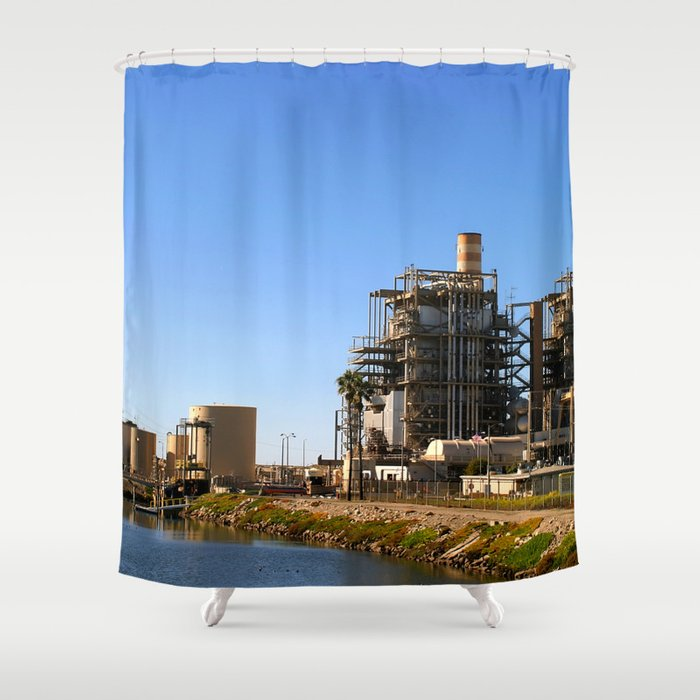 Power Plant Shower Curtain
