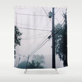 Foggy Lines Shower Curtain