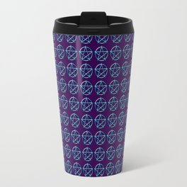 Blue Pentagram Travel Mug