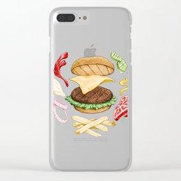 Burger Mandala Clear iPhone Case