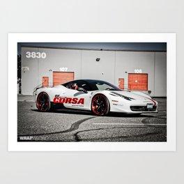 "Ferrari 458 ""Corsa Beer"" Art Print"