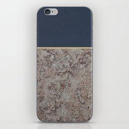 Blue Meets Brown Gray Concrete #1 #decor #art #society6 iPhone Skin