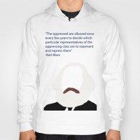 marx Hoodies featuring Marx-Minimalism by Bel17