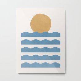 Sun Wave - Abstract Painting Metal Print