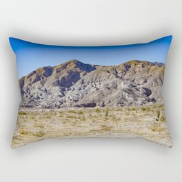 Looking Back towards Granite Mountain across the Highway in the Anza Borrego Desert State Park Rectangular Pillow