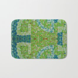 Abstract anarchism green pattern Bath Mat