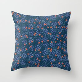 Floral Showers Throw Pillow