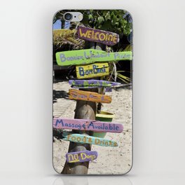 Caribbean Colors Driftwood Art iPhone Skin