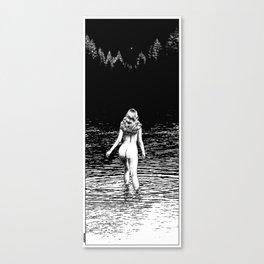 asc 846 - La ronde d'argent (Ascending Venus) cliped Canvas Print