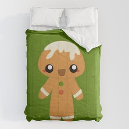 Christmas Card - Gingerbread Kid Comforters