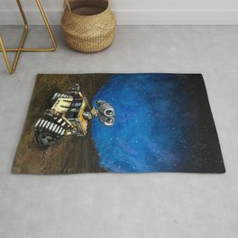 Wall-E Meets the Stars Rug