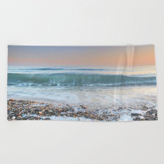 """Looking at the waves III"" Sea dreams Beach Towel"