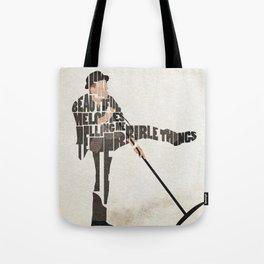 Typography Art of Tom Waits Tote Bag