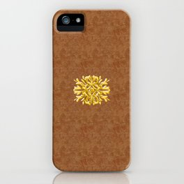 """""""Marron Doré"""" iPhone Case"""