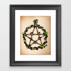 PENTAGRAM GARLAND Framed Art Print