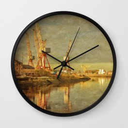 Shipbuilding on the River Clyde Wall Clock