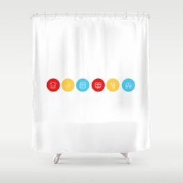 F • R • I • E • N • D • S Shower Curtain