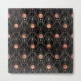 Art Deco Leaves / Version 3 Metal Print