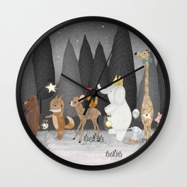 little stars Wall Clock