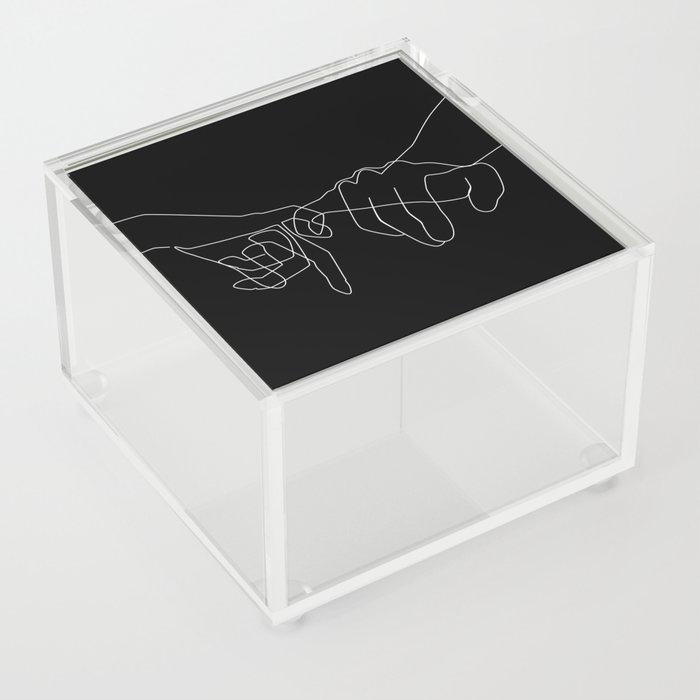 Black Pinky Swear Acrylic Box