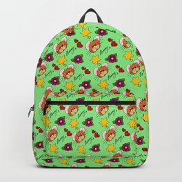 Hammy Pattern in Pale Green Backpack