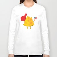 cheese Long Sleeve T-shirts featuring cheese by alex eben meyer