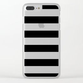 Simply Stripes in Midnight Black Clear iPhone Case