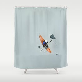 Solitude- Kayaker Shower Curtain